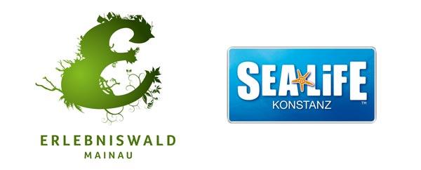 Logos Erlebniswald und SEA LIFE
