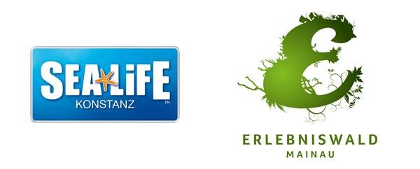 Logos Sealife und Erlebniswald