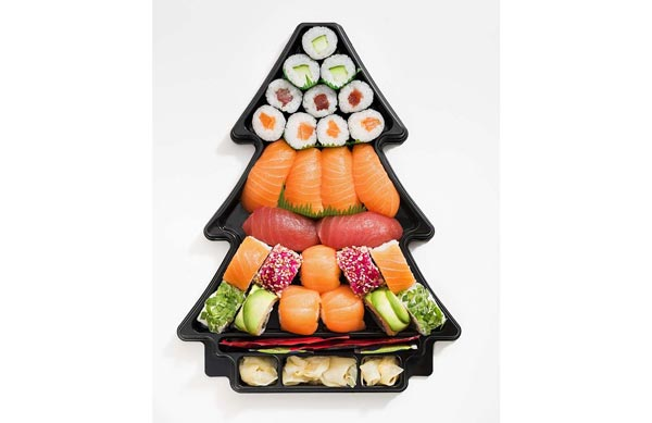 EatHappy - Sushi Tannenbaum-Box